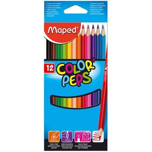 MAPED COLOR PEPS AQUA KURU BOYA 12 RENK